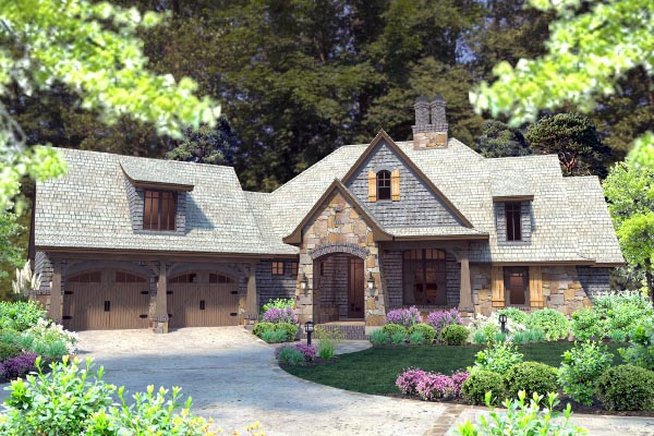 Cottage, Craftsman, Tuscan House Plan 75134 with 4 Beds, 4 Baths, 2 Car Garage Picture 31