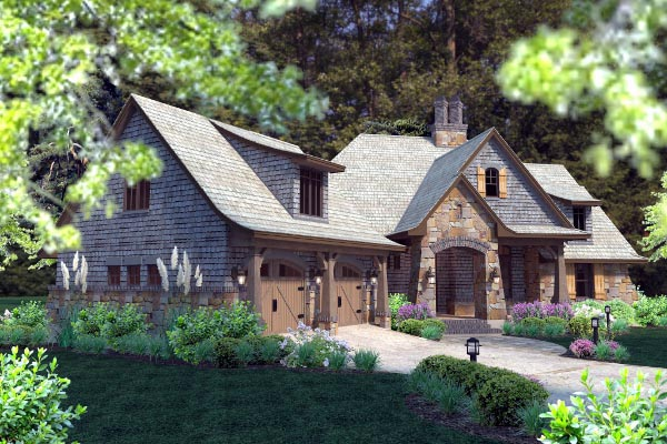Cottage, Craftsman, Tuscan House Plan 75134 with 4 Beds, 4 Baths, 2 Car Garage Picture 33