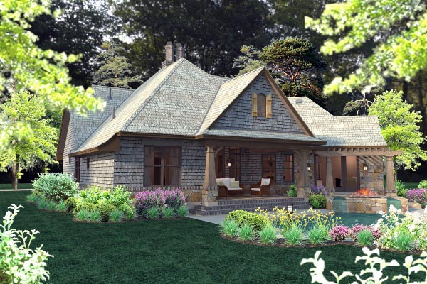 Cottage, Craftsman, Tuscan House Plan 75134 with 4 Beds, 4 Baths, 2 Car Garage Picture 34