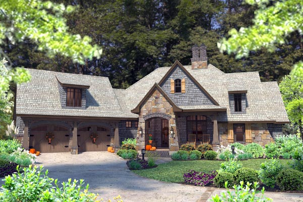 Cottage, Craftsman, Tuscan House Plan 75134 with 4 Beds, 4 Baths, 2 Car Garage Picture 35