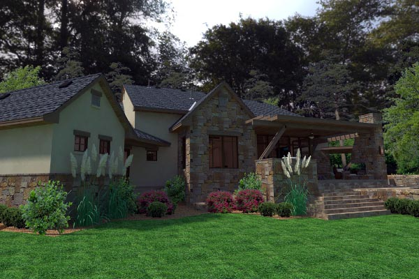 Cottage Craftsman European French Country House Plan 75135