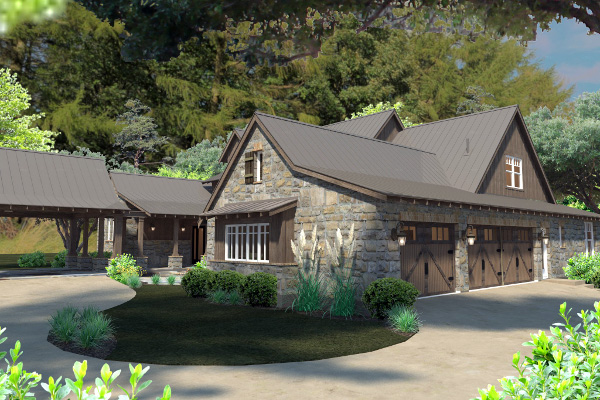 Country, Craftsman, Farmhouse, Tudor House Plan 75136 with 4 Beds, 4 Baths, 4 Car Garage Picture 5