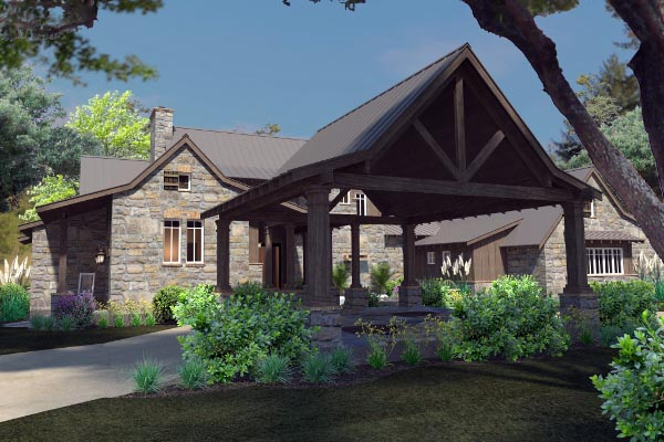 Country, Craftsman, Farmhouse, Tudor House Plan 75136 with 4 Beds, 4 Baths, 4 Car Garage Picture 8