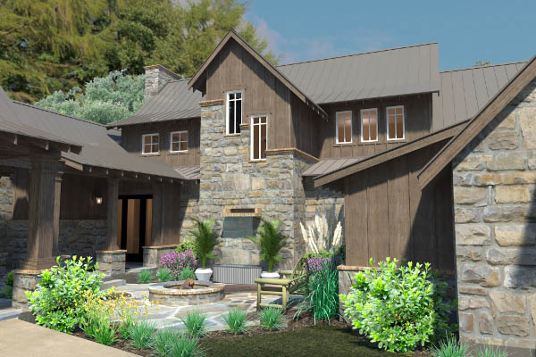 Country Craftsman Farmhouse Tudor House Plan 75136