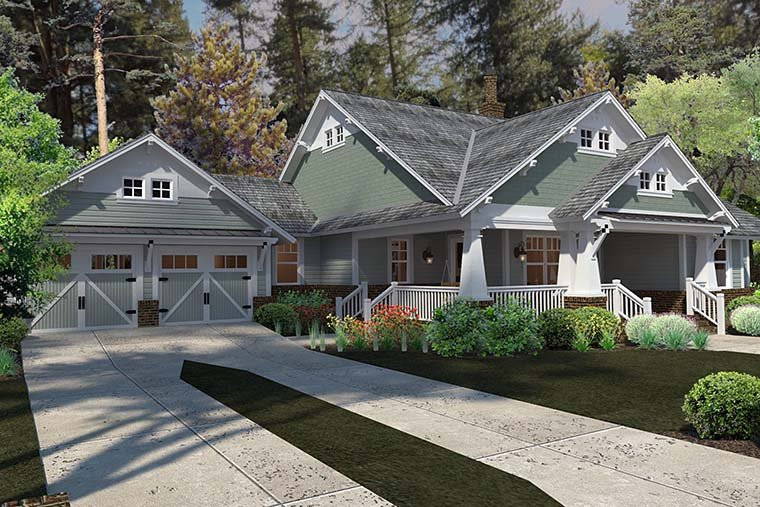 Bungalow cottage craftsman farmhouse house plan 75137 for Familyhomeplans 75137