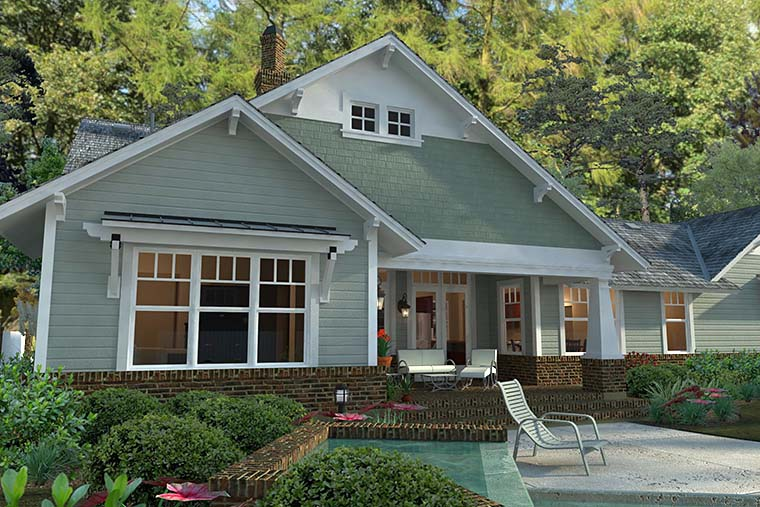 cottage craftsman farmhouse house plan 75137