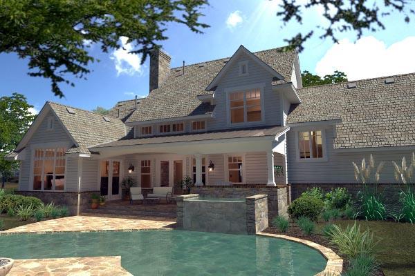 Country Farmhouse Southern House Plan 75138