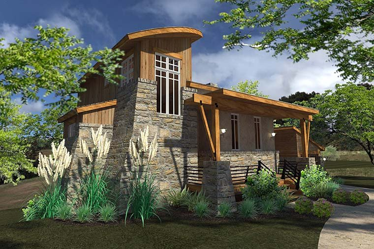 Contemporary cottage craftsman modern tuscan house plan 75140 for Modern cottage house plans