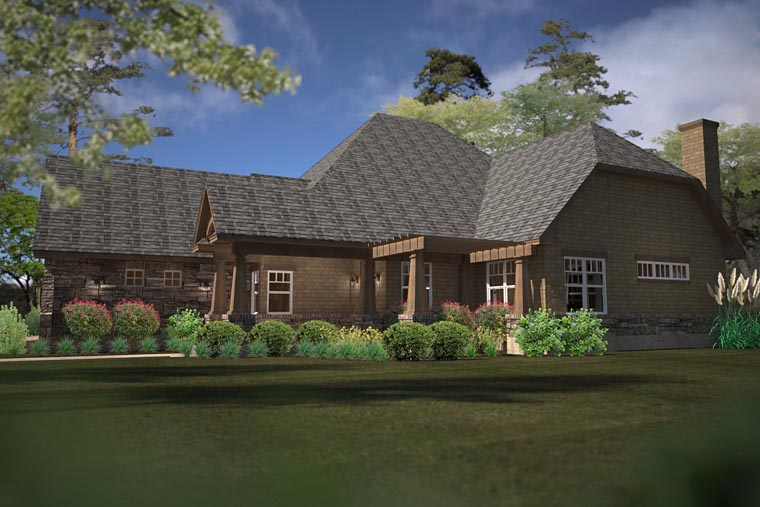 Cottage, Country, Craftsman House Plan 75141 with 2 Beds, 2 Baths, 3 Car Garage Picture 2