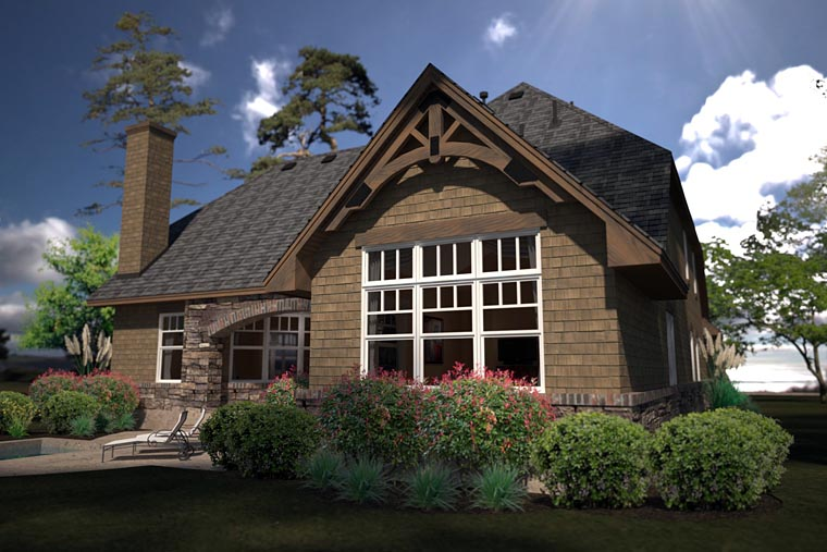 Cottage, Country, Craftsman House Plan 75141 with 2 Beds, 2 Baths, 3 Car Garage Picture 3