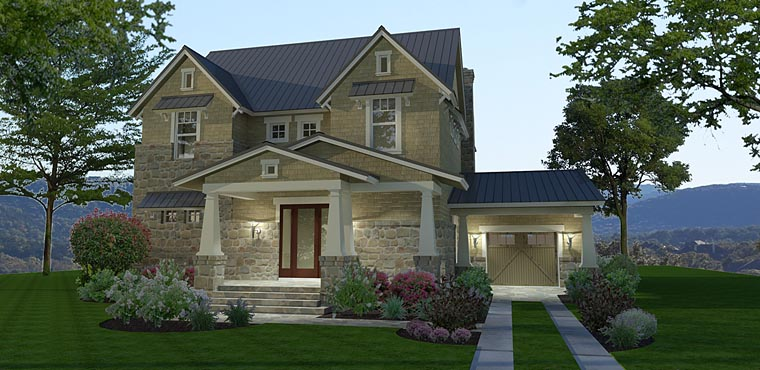 Cottage, Craftsman, Farmhouse House Plan 75142 with 3 Beds, 3 Baths, 1 Car Garage Elevation