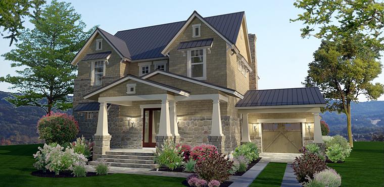 Cottage Craftsman Farmhouse House Plan 75142