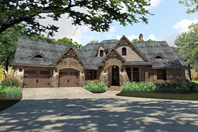 Craftsman , Traditional , Tuscan House Plan 75144 with 3 Beds, 3 Baths, 2 Car Garage Elevation