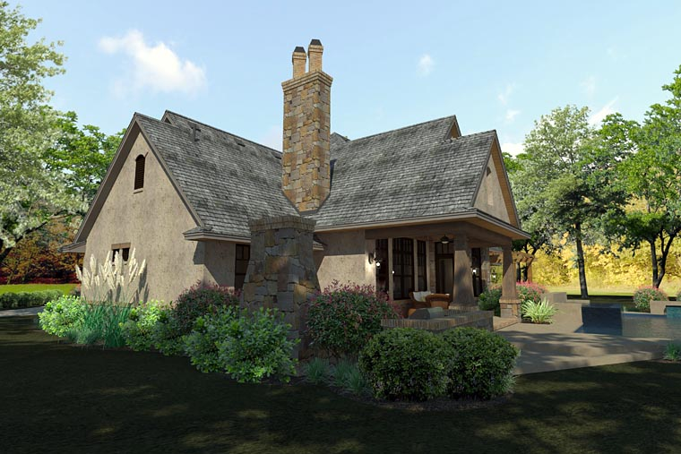Craftsman Traditional Tuscan House Plan 75144