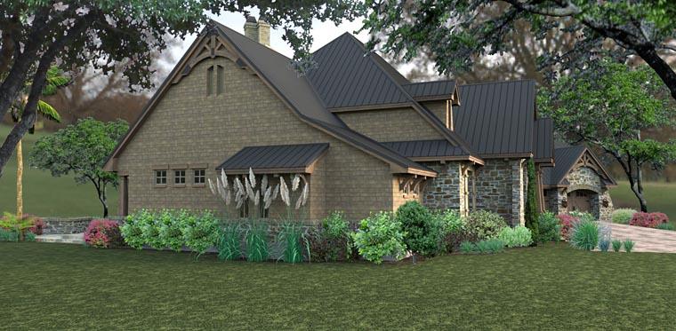 Country Craftsman Tuscan House Plan 75145