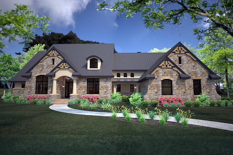 Country Craftsman European Tuscan House Plan 75146 Elevation