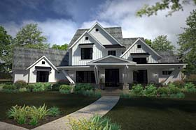 Contemporary , Country , Farmhouse House Plan 75147 with 4 Beds, 5 Baths, 3 Car Garage Elevation