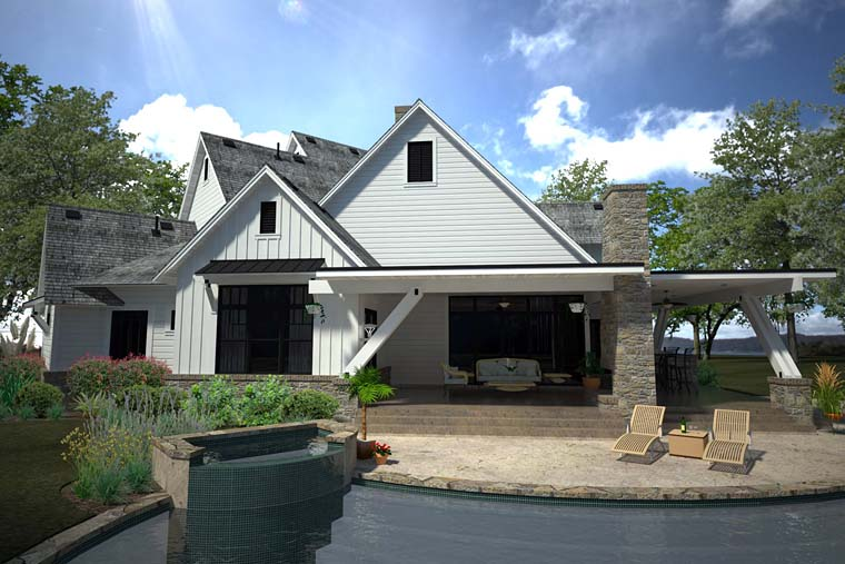 Contemporary Country Farmhouse House Plan 75147