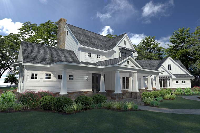 Country, Farmhouse, Southern House Plan 75148 with 3 Beds, 3 Baths, 2 Car Garage Picture 1