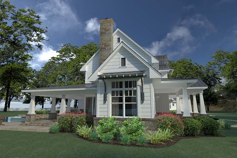 Country, Farmhouse, Southern House Plan 75148 with 3 Beds, 3 Baths, 2 Car Garage Picture 2
