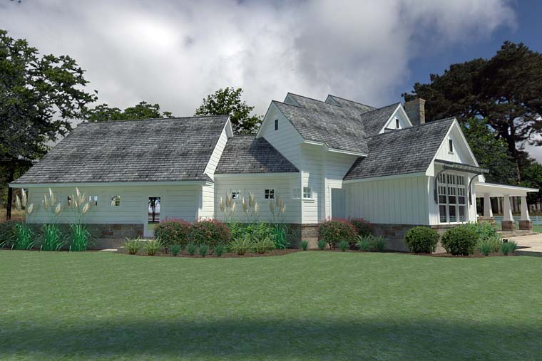 Country, Farmhouse, Southern House Plan 75148 with 3 Beds, 3 Baths, 2 Car Garage Picture 5