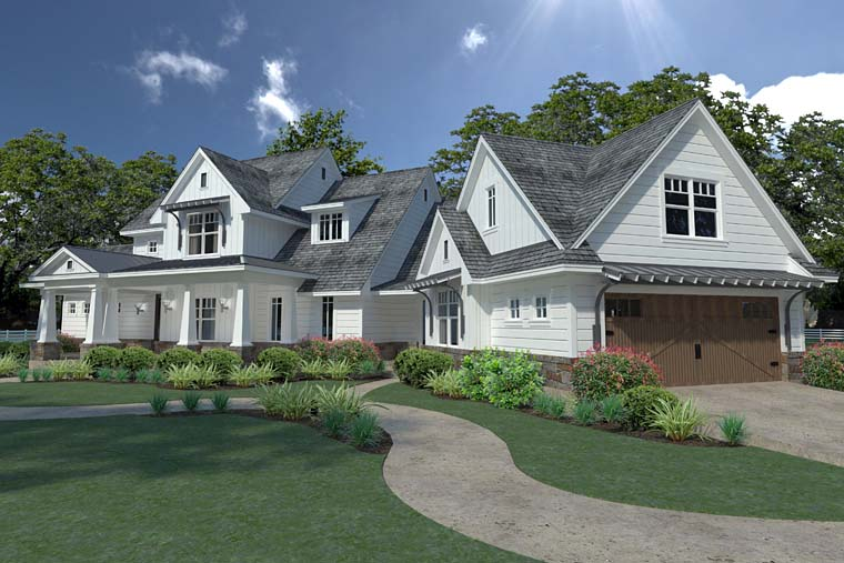 Country, Farmhouse, Southern House Plan 75148 with 3 Beds, 3 Baths, 2 Car Garage Picture 6
