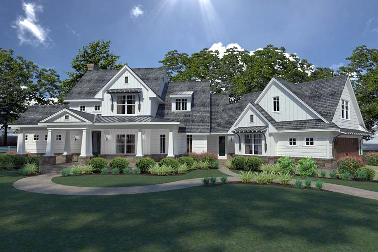 Country Farmhouse Southern House Plan 75148