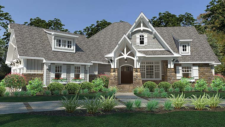 Cottage, Craftsman, European, Farmhouse House Plan 75149 with 3 Beds, 3 Baths, 3 Car Garage Elevation
