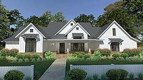 Cottage Country Farmhouse Southern House Plan 75150 Elevation