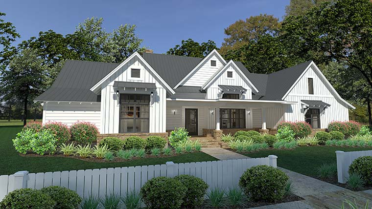 Cottage, Country, Farmhouse, Southern House Plan 75150 with 3 Beds, 3 Baths, 2 Car Garage Picture 1