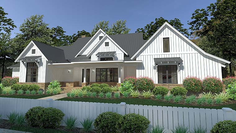 Cottage Country Farmhouse Southern House Plan 75150