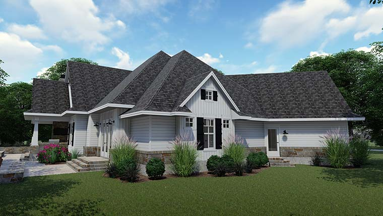 Cottage, Country, Farmhouse, Southern, Traditional House Plan 75152 with 3 Beds, 4 Baths, 2 Car Garage Picture 6