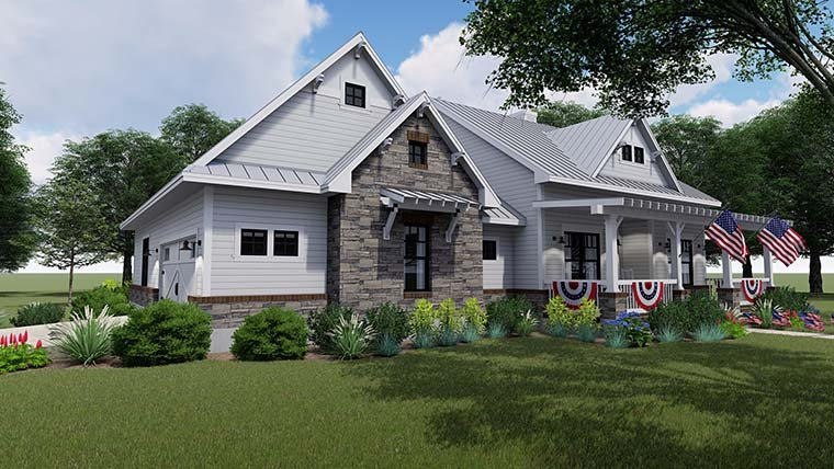 Cottage Country Farmhouse House Plan 75153
