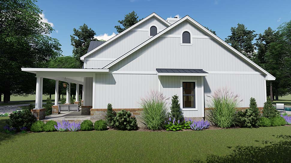 Country, Farmhouse, Southern House Plan 75154 with 3 Beds, 3 Baths, 2 Car Garage Picture 6