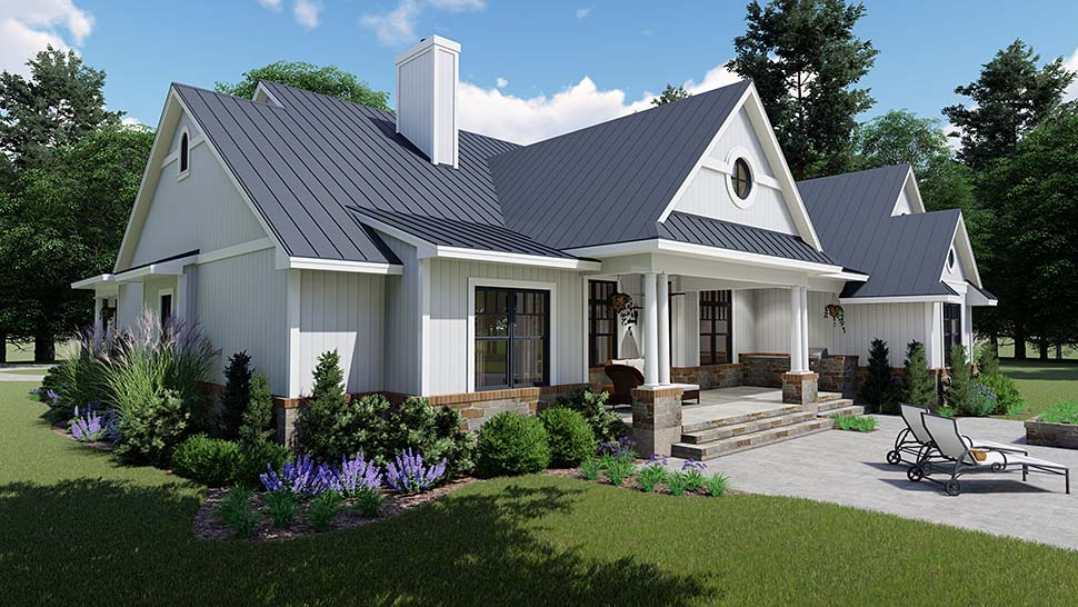 Country, Farmhouse, Southern House Plan 75154 with 3 Beds, 3 Baths, 2 Car Garage Picture 7