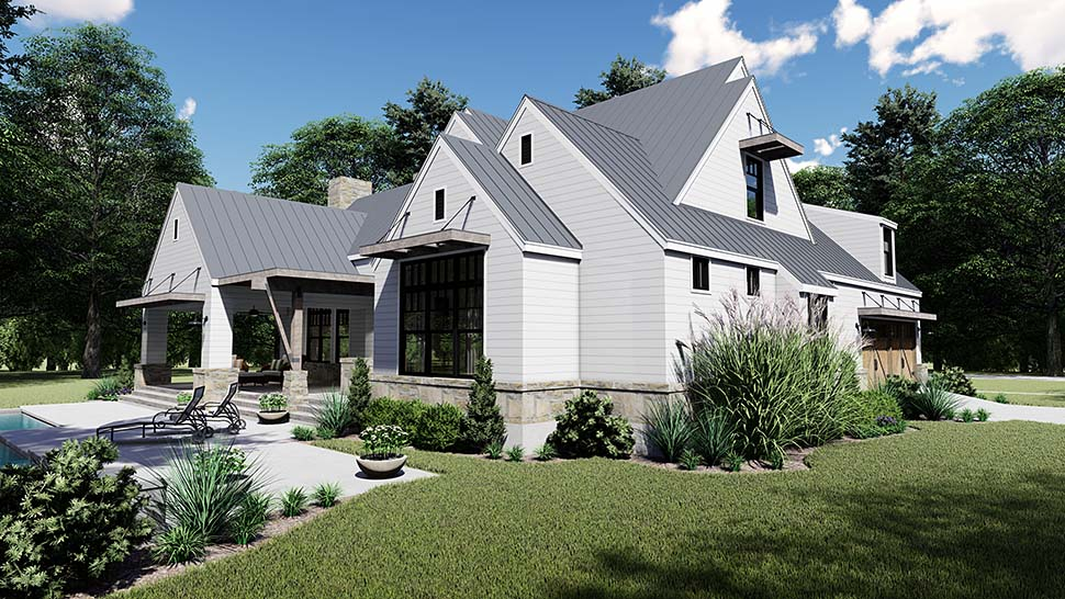 Cottage, Country, Farmhouse, Southern House Plan 75155 with 4 Beds, 4 Baths, 2 Car Garage Picture 6