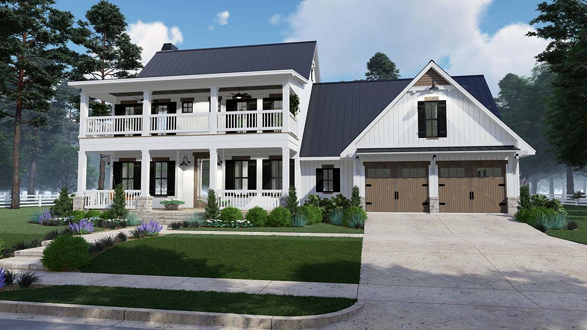 Click here to see an even larger picture house plan 75157 colonial country southern style
