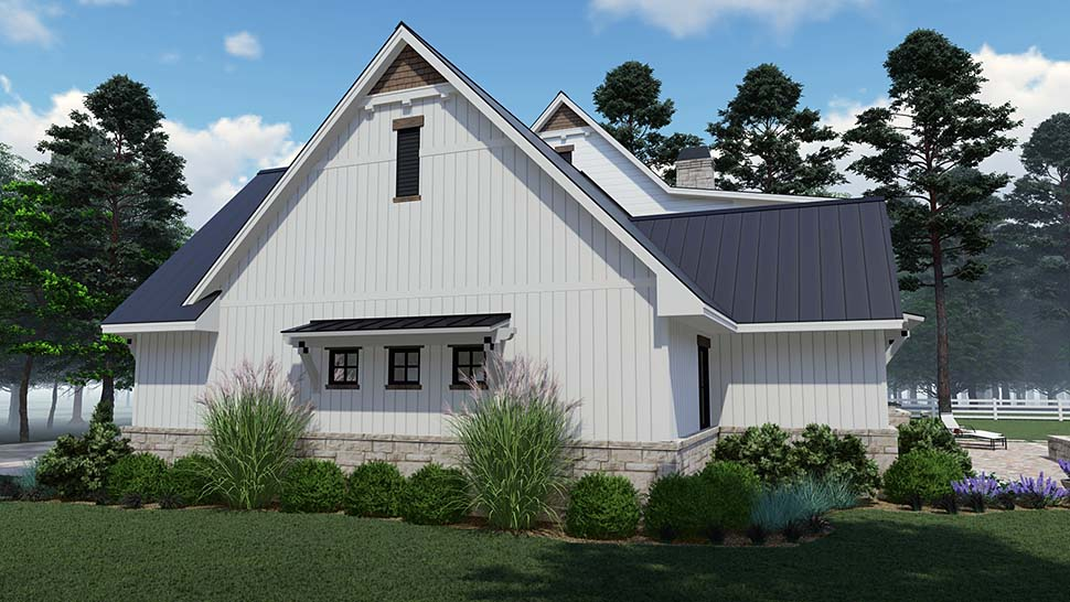 Colonial, Country, Southern Plan with 2458 Sq. Ft., 3 Bedrooms, 3 Bathrooms, 2 Car Garage Picture 4