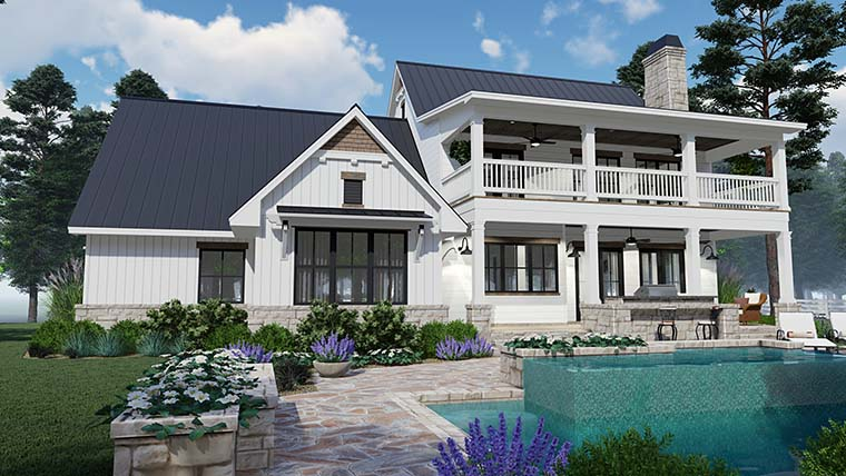 Colonial, Country, Southern Plan with 2458 Sq. Ft., 3 Bedrooms, 3 Bathrooms, 2 Car Garage Picture 6