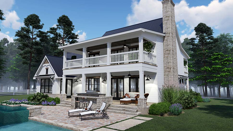 Colonial, Country, Southern Plan with 2458 Sq. Ft., 3 Bedrooms, 3 Bathrooms, 2 Car Garage Picture 7