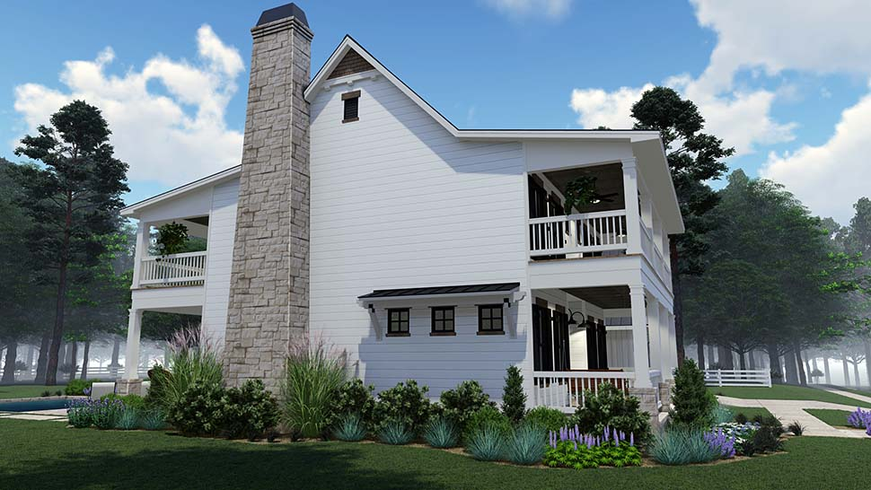 Colonial, Country, Southern Plan with 2458 Sq. Ft., 3 Bedrooms, 3 Bathrooms, 2 Car Garage Picture 8