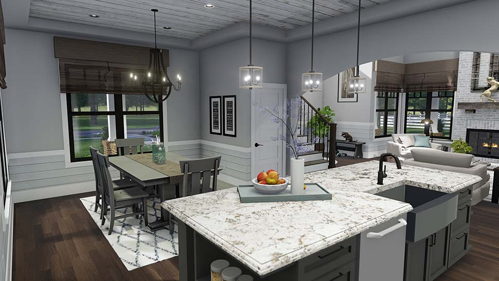 Country, Farmhouse, Southern House Plan 75158 with 3 Beds, 3 Baths, 2 Car Garage Picture 13