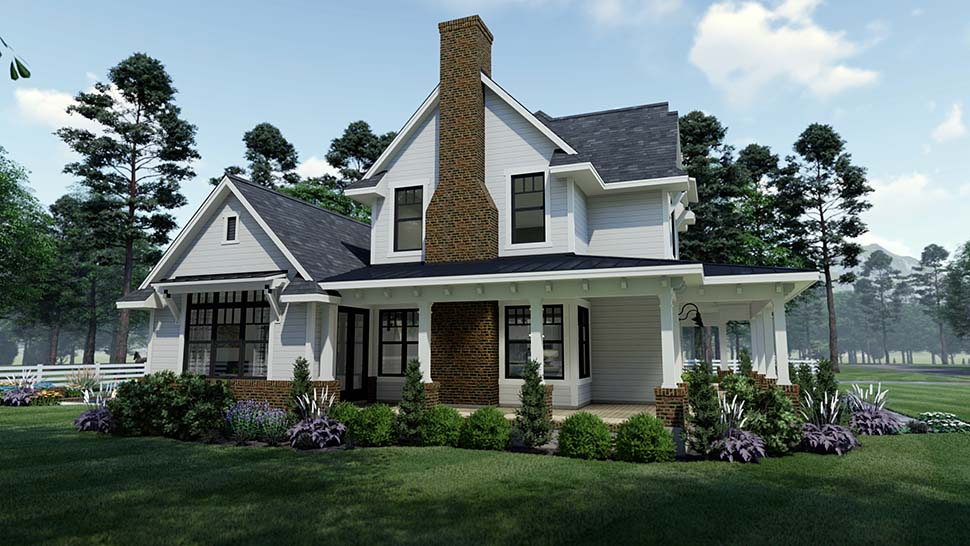 Country, Farmhouse, Southern House Plan 75158 with 3 Beds, 3 Baths, 2 Car Garage Picture 2