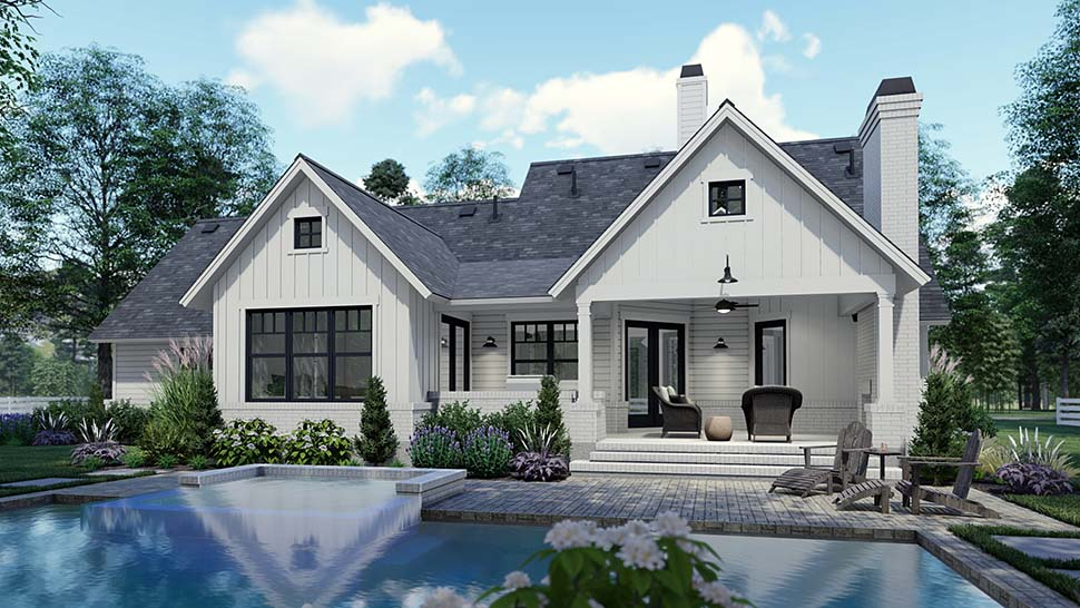 Country, Craftsman, Farmhouse, Southern House Plan 75159 with 3 Beds, 2 Baths, 2 Car Garage Picture 6