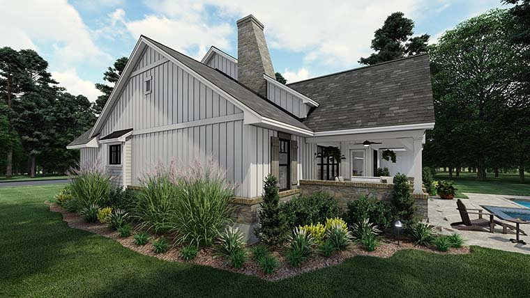 Cottage, Farmhouse, Southern House Plan 75160 with 4 Beds, 3 Baths, 2 Car Garage Picture 5