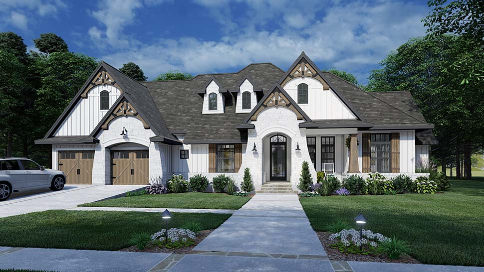 European, Farmhouse, Traditional House Plan 75161 with 4 Beds, 3 Baths, 2 Car Garage Picture 1