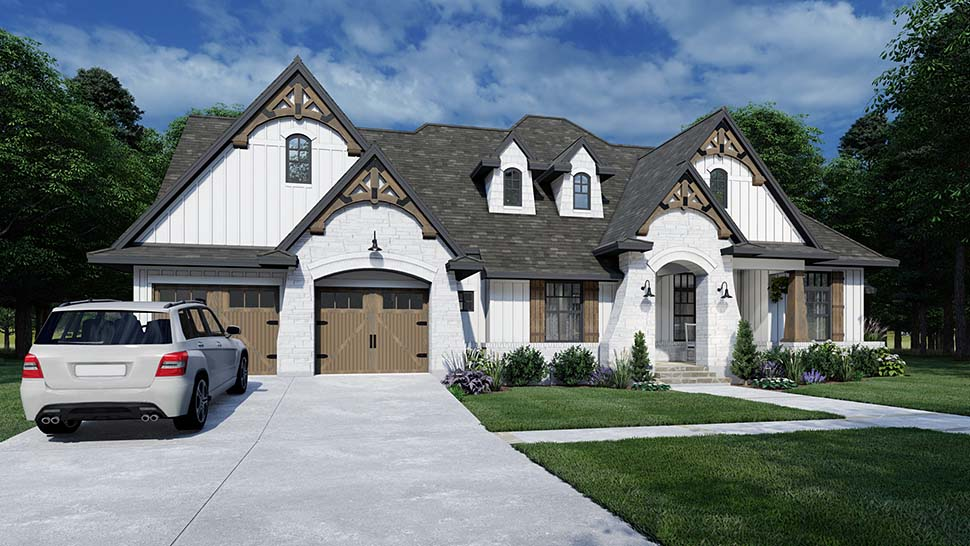 European, Farmhouse, Traditional House Plan 75161 with 4 Beds, 3 Baths, 2 Car Garage Picture 2