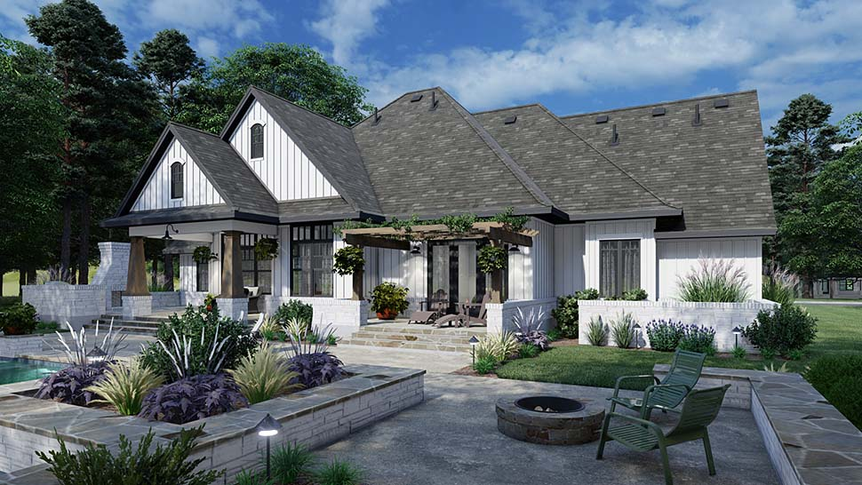 European, Farmhouse, Traditional House Plan 75161 with 4 Beds, 3 Baths, 2 Car Garage Picture 3
