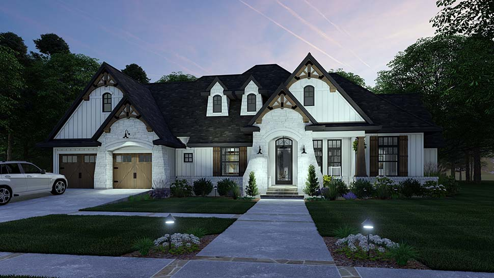 European, Farmhouse, Traditional House Plan 75161 with 4 Beds, 3 Baths, 2 Car Garage Picture 8