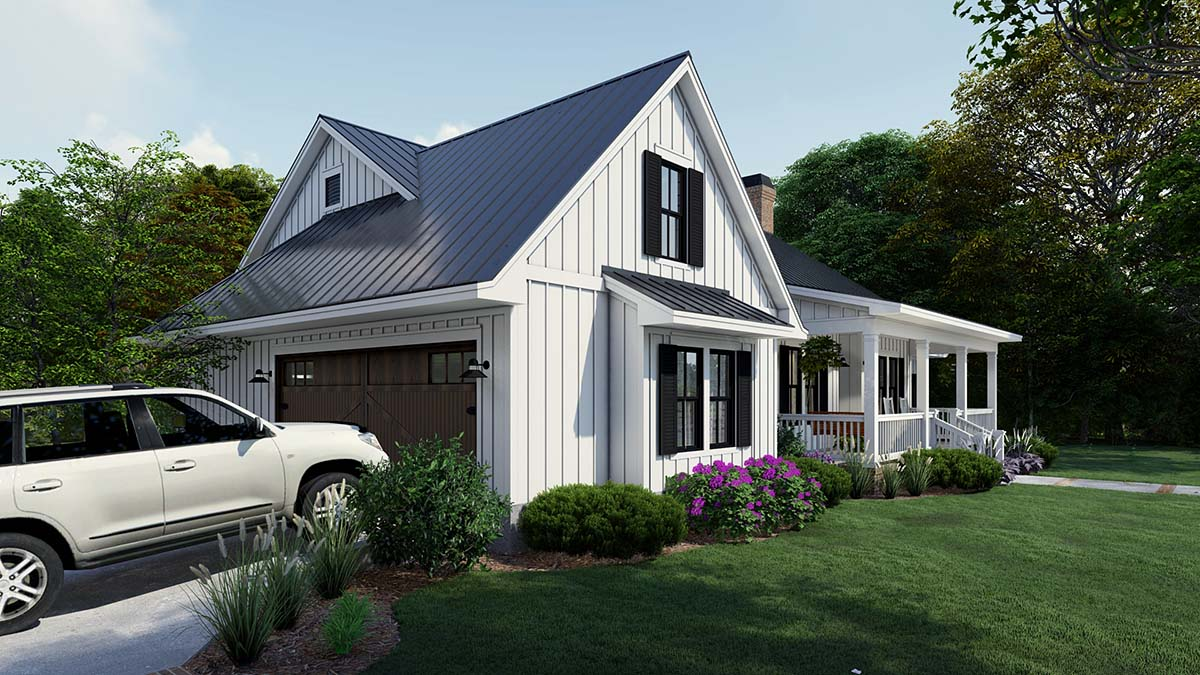 Cottage, Country, Farmhouse Plan with 2192 Sq. Ft., 4 Bedrooms, 3 Bathrooms, 2 Car Garage Picture 3